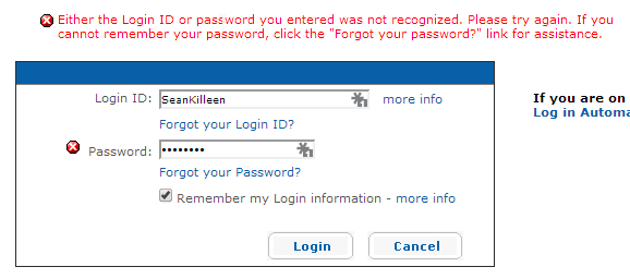 Intel RST Account password not working