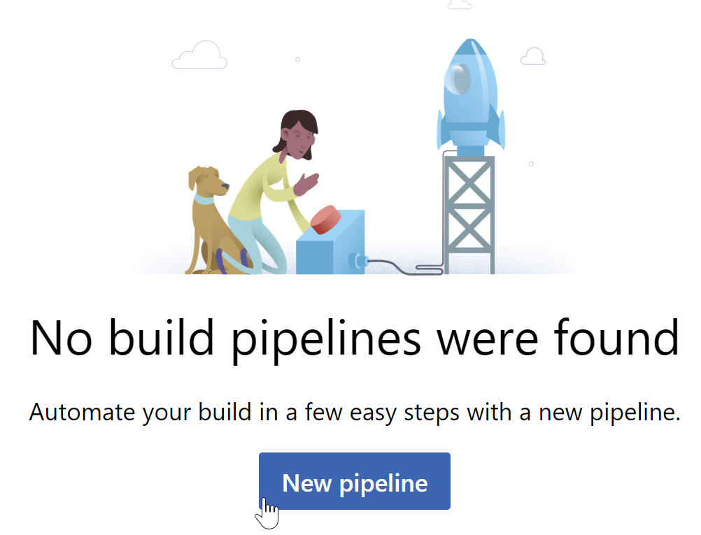 new pipeline button on the pipelines page