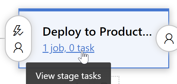 clicking the link to view stage tasks