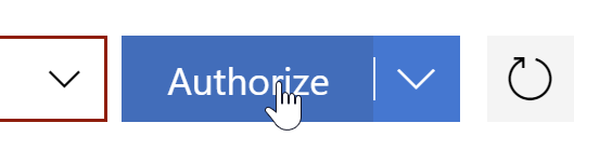 the authorize button for subscription access