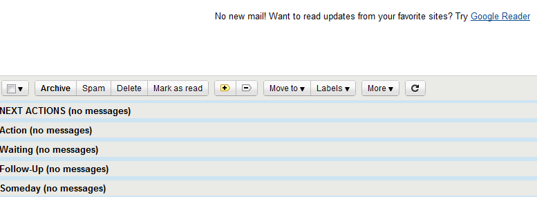 An update office e-mail inbox.