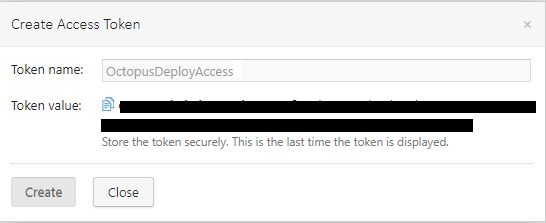 Access token text for copying